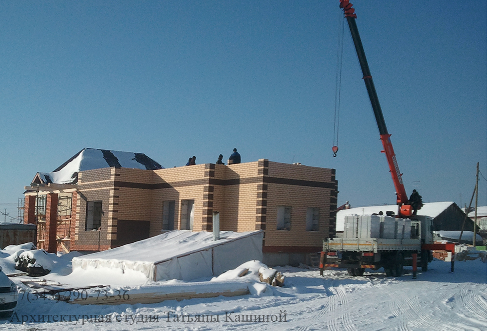 Строительство двухквартирного дома. Март 2013