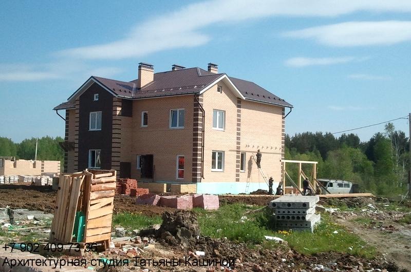 Проект. дома на два хозяина с неравными частями. Монтаж навеса