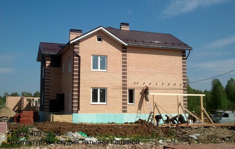 Проект. дома на два хозяина с неравными частями. Монтаж навеса для гаража