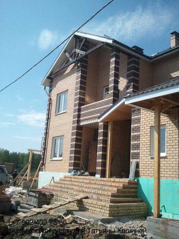 Проект. дома на два хозяина с неравными частями. Благоустройство участка