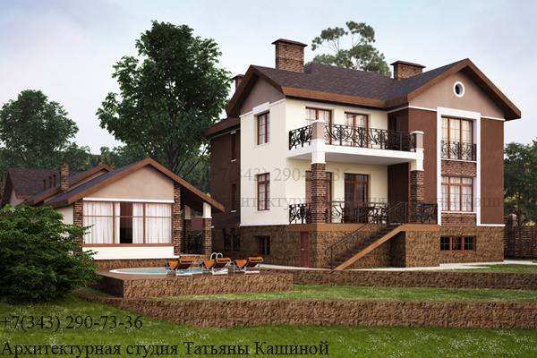 Индивидуальный проект дома с цокольным этажом. ЖСК Рудный