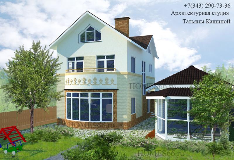 Проект дома 7 на 11 с мансардой