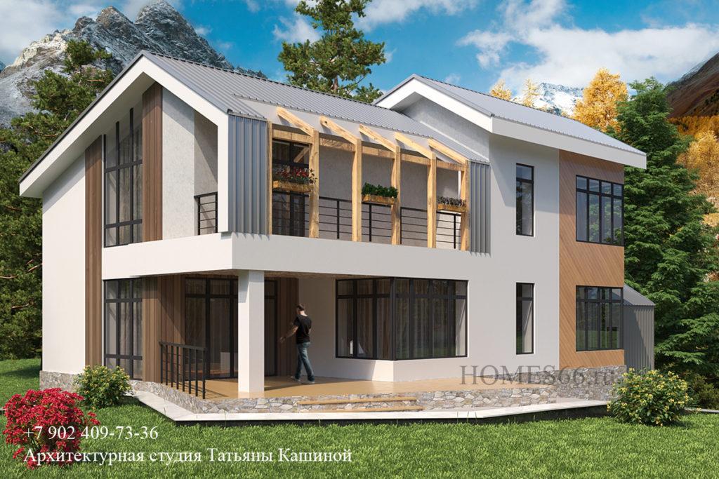 Проект дома в современном стиле. Поселок Горки