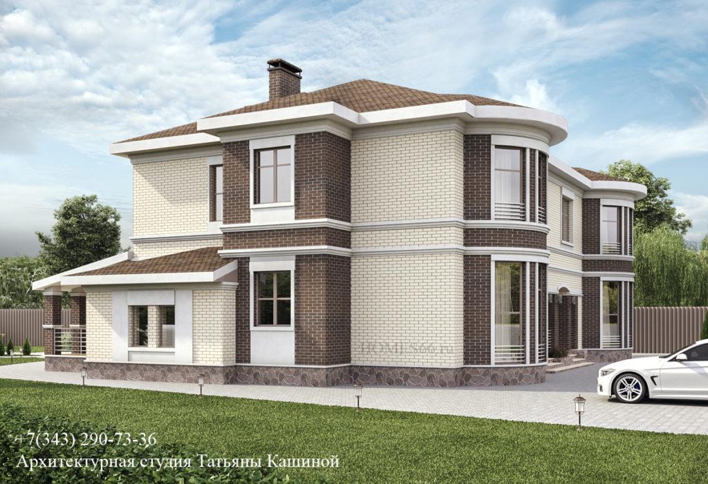 Проект дома в Малиновке. Вид 2