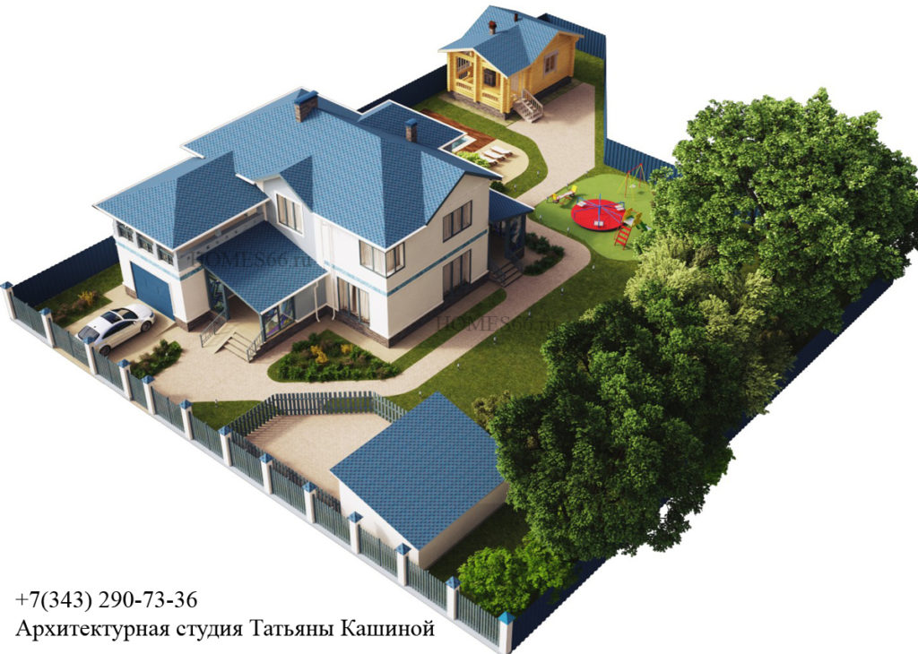 Проект дома с мотивами Греции.
