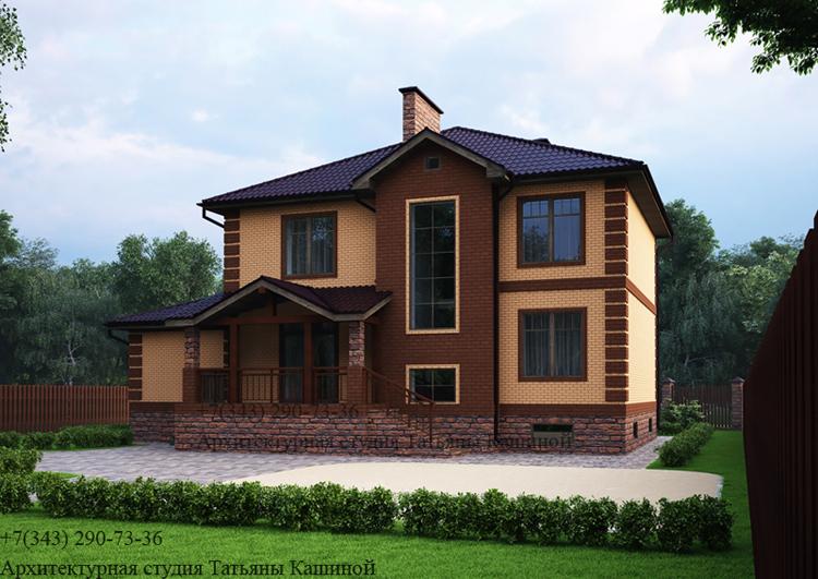 Проект дома с гаражом и цокольным этажом. Московская область