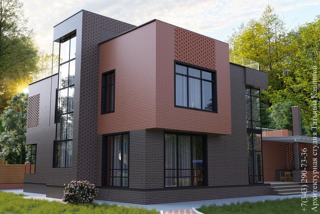 Индивидуальный проект дома в стиле хай тек. поселок Чистые Росы