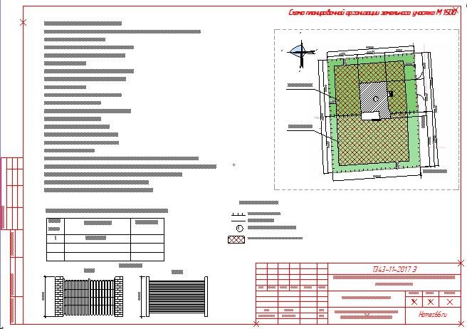 СПОЗУ (схема планировочной организации земельного участка)