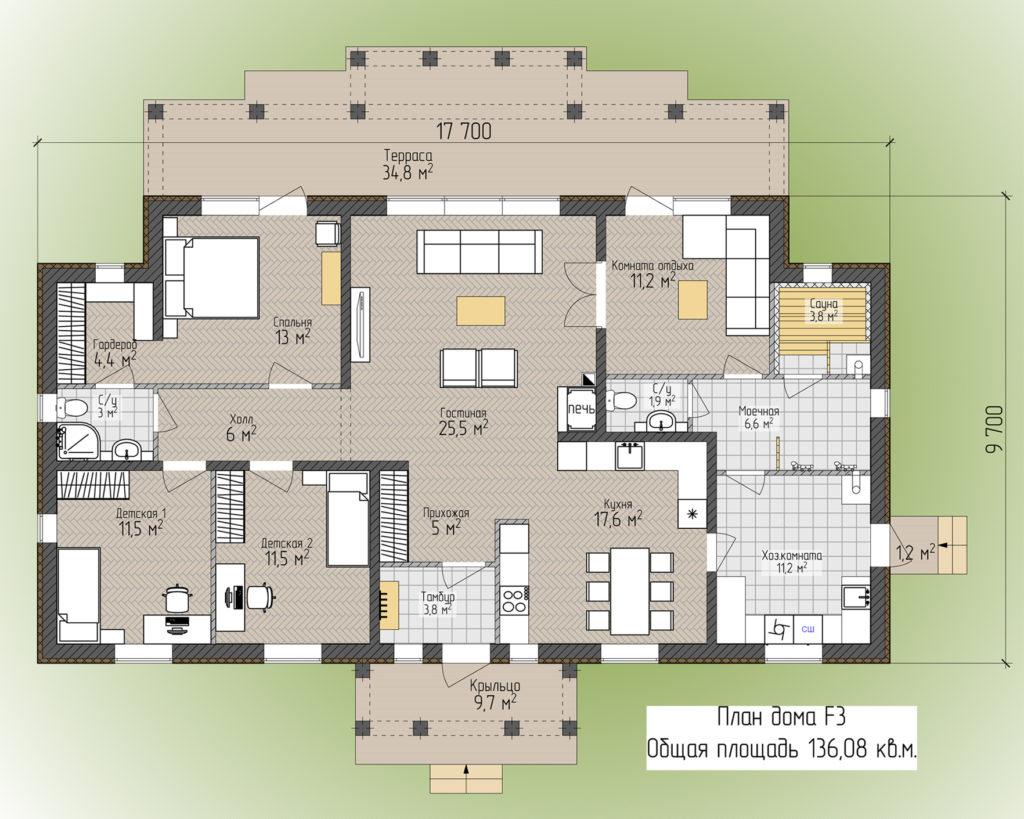 План дома F3