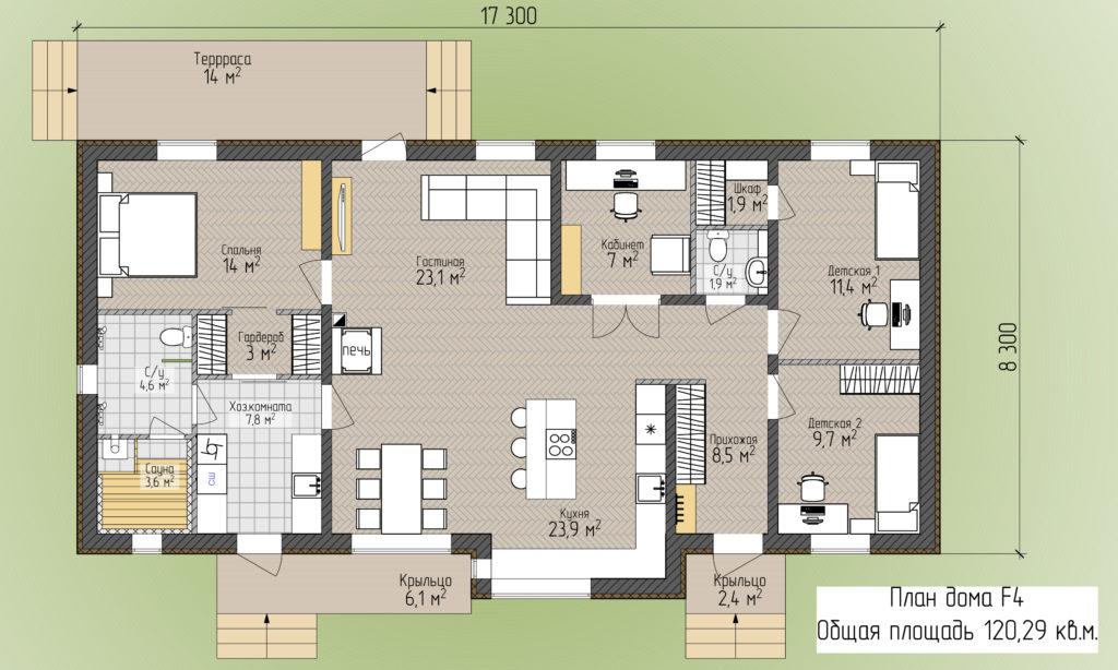 План дома F4